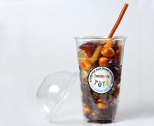 Cola-Frucht -Gummi Becher
