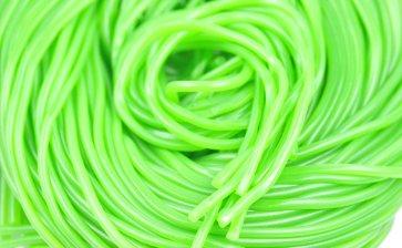 Spaghetti Schnüre Grün