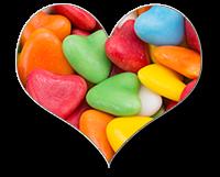 Herz Form Süßigkeiten