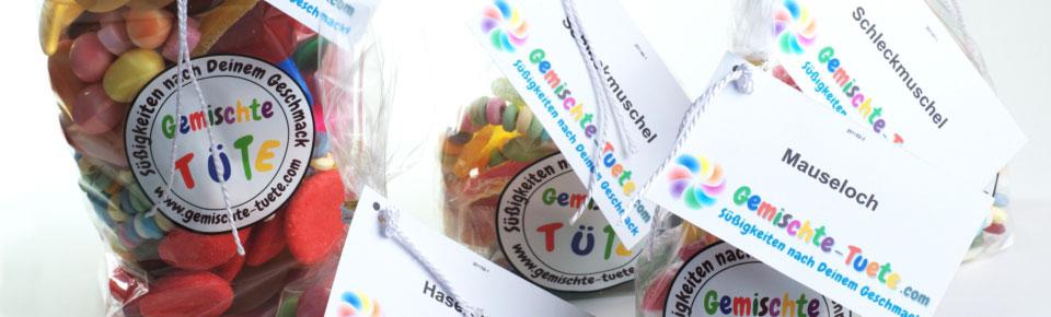 gemischte-tuete süße Fruchtgummi visitenkarte